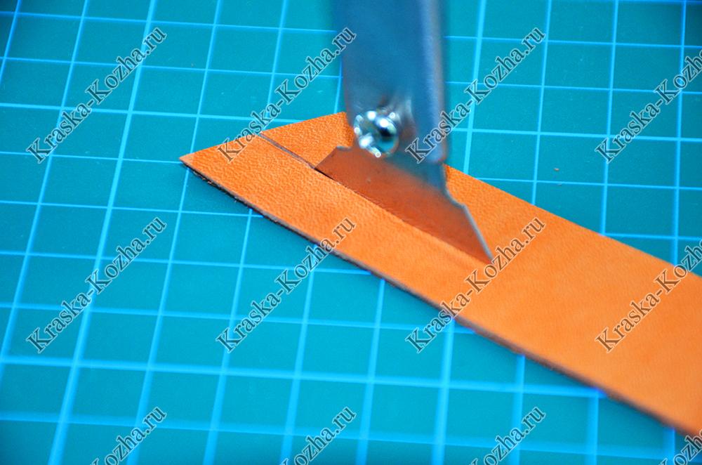 Нож для работы с кожей