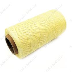 Вощеная нить для кожи светло-желтая
