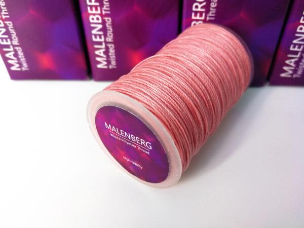 Нить вощеная розовая MALENBERG