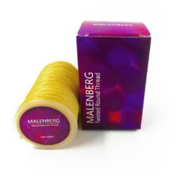 Желтая вощеная нить для кожи Malenberg
